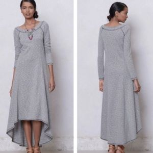 Anthropologie Puella French terry high low dress